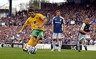 Cardiff - Saturday August 23rd, 2008: Jamie Cureton of Norwich City takes and misses a penalty to draw level during the first half of the Coca Cola Championship match at The Ninian Park, Cardiff. (Pic by Paul Hollands/Focus Images)