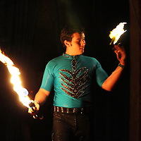 Leviare throws flames during one of the acts.
