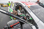 19th May 2018, Winton Motor Raceway, Victoria, Australia; Winton Supercars Supersprint Motor Racing; Rick Kelly sits in the number 15 Nissan Motorsport Nissan Altima ahead of race 13 of the 2018 Supercars Championship