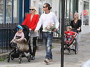 06.MAY.2011. LONDON<br /> <br /> GWEN STEFANI OUT AND ABOUT IN PRIMROSE HILL WITH HER HUSBAND GAVIN ROSSDALE AND TWO CHILDREN.<br /> <br /> BYLINE: EDBIMAGEARCHIVE.COM<br /> <br /> *THIS IMAGE IS STRICTLY FOR UK NEWSPAPERS AND MAGAZINES ONLY*<br /> *FOR WORLD WIDE SALES AND WEB USE PLEASE CONTACT EDBIMAGEARCHIVE - 0208 954 5968*