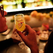 November 30, 2015 - New York, NY :  Miracle on Ninth St. is the Christmas season version of the bar Mace, located at 649 E. 9th Street. The bar serves drinks in festive stemware. CREDIT: Karsten Moran for The New York Times