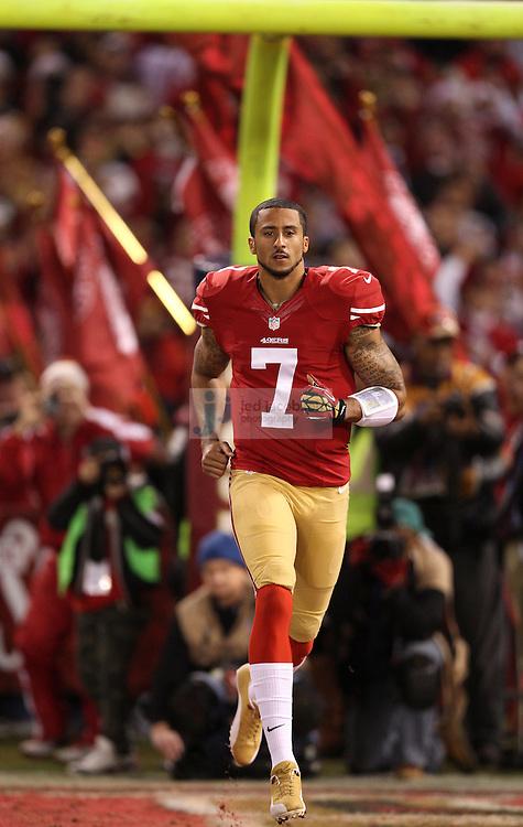 SAN FRANCISCO - DECEMBER 23:   The Atlanta Falcons and the San Francisco 49ers on December 23, 2013 at Candlestick Park in San Francisco, Ca. (Photo by Jed Jacobsohn for Nike)