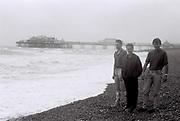 Friends on Brighton Beach, UK, 1985