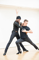 Lemington Ridley is an accomplished dancer and, with his partner Nejc Jus (also shown) winner of both the 2012 and 20143 Pink Jukebox Ballroom Latin Dance Championships. This is one of a series of master classes held at London's Bishopsgate Institue. credit Carole Edrich