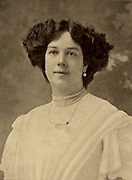Clara Butt (1872-1936) celebrated English contralto born at Southwick near Brighton, Sussex. She made her debut in 1892.  In 1920 she was created Dame Commander of the British Empire (DBE) for the work she did entertaining the troops during her career.