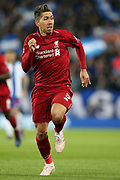 Liverpool forward Roberto Firmino (9) on the run during the Champions League Quarter-Final Leg 1 of 2 match between Liverpool and FC Porto at Anfield, Liverpool, England on 9 April 2019.