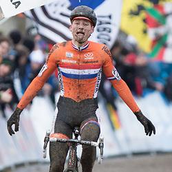 01-02-2015: Wielrennen: WK veldrijden: Tabor<br />Mathieu van der Poel youngest World Champion Elite