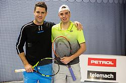 Gregor Krusic in Marino Kegl na drzavnem prvenstvu veteranskih dvojic v tenisu, 24. marec 2018, BTC Millenium center, Ljubljana, Slovenia. Photo by Vid Ponikvar / Sportida
