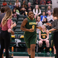 2nd year guard Kyanna Giles (9) of the Regina Cougars in action during the Women's Basketball home game on January  20 at Centre for Kinesiology, Health and Sport. Credit: /Arthur Images