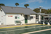 The Coronado deck Shuffleboard club in New Smyrna Beach, Florida.
