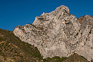 Granite mountain peak above Kings Canyon, Fresno County, California