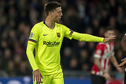 November 28, 2018 - Eindhoven, Netherlands - Clement Lenglet of Barcelona during the UEFA Champions League Group B match between PSV Eindhoven and FC Barcelona at Philips Stadium in Eindhoven, Netherlands on November 28, 2018  (Credit Image: © Andrew Surma/NurPhoto via ZUMA Press)