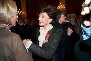 JACQUELINE DE RIBES; , Legion d'honneur awards. Elysee Palace, Presidence. Rue du Faubourg. 50 Rue de la Bienfaisance. Paris. 07 April 2010
