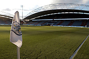 Huddersfield's ground is ready for  The FA Cup match between Huddersfield Town and Manchester United at the John Smiths Stadium, Huddersfield, England on 17 February 2018. Picture by George Franks.