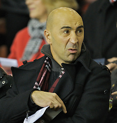 LIVERPOOL, ENGLAND - Tuesday, January 29, 2008: Former Liverpool coach Pako Ayesteran watches as the Youth Team take on  Arsenal during the FA Youth Cup 4th Round match at Anfield. (Photo by David Rawcliffe/Propaganda)