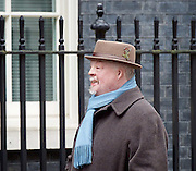 Simon Weston CBE veteran of the British Army who has become known throughout the United Kingdom for his recovery and charity work after suffering severe burn injuries during the Falklands War.. 10 Downing Street, London, Great Britain <br /> 1st March 2017 <br /> <br /> <br /> <br /> Photograph by Elliott Franks <br /> Image licensed to Elliott Franks Photography Services