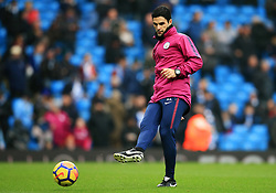 Manchester City coach Mikel Arteta joins in the warm up - Mandatory by-line: Matt McNulty/JMP - 23/12/2017 - FOOTBALL - Etihad Stadium - Manchester, England - Manchester City v Bournemouth - Premier League