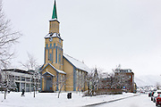 Cathedral in Tromsoya, Tromso,  Arctic Circle in Northern Norway