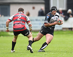 Pontypridd's Will Davies-King<br /> Cross Keys v Pontypridd RFC<br /> <br /> Photographer Mike Jones / Replay Images<br /> Pandy Park, Cross Keys.<br /> Wales - 12th May 2018.<br /> <br /> Cross Keys v Pontypridd RFC<br /> Principality Premiership<br /> <br /> World Copyright © Replay Images . All rights reserved. info@replayimages.co.uk - http://replayimages.co.uk