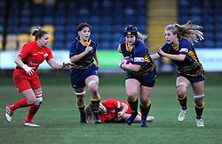 Lauren Leatherland of Worcester Valkyries run with the ball - Mandatory by-line: Nizaam Jones/JMP - 01/12/2018 - RUGBY - Sixways Stadium - Worcester, England - Worcester Valkyries v Saracen Women- Tyrrells Premier 15s