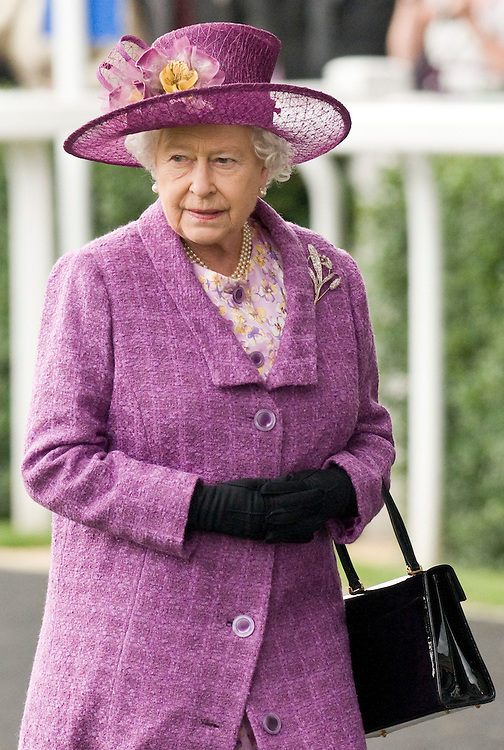 Ascot England June 18th Her Majesty Queen Elizabeth II at the second day of Royal Ascot