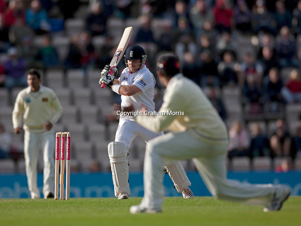 Ian Bell bats during the third npower Test Match between England and Sri Lanka at the Rose Bowl, Southampton.  Photo: Graham Morris (Tel: +44(0)20 8969 4192 Email: sales@cricketpix.com) 18/06/11