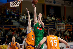Mirch McCarron of KK Petrol Olimpija Ljubljana during basketball match between KK Helios Suns and KK Petrol Olimpija in Playoffs of Liga Nova KBM 2017/18, on March 26, 2018 in Hala Kominalnega Centra, Domzale, Slovenia. Photo by Urban Urbanc / Sportida