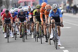 March 25, 2018 - Wevelgem, BELGIUM - Belgian Wout van Aert of Team Sniper leads the group of leaders, during the 80th edition of the Gent-Wevelgem cycling race, 251,1 km from Deinze, near Gent, to Wevelgem, Sunday 25 March 2018...BELGA PHOTO DIRK WAEM (Credit Image: © Dirk Waem/Belga via ZUMA Press)