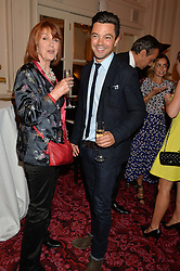 DOMINIC COOPER and his mother JULIE HERON at the Audi Ballet Evening at The Royal Opera House, Covent Garden, London on 23rd April 2015.