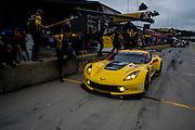 October 1- 3, 2015: Road Atlanta, Petit Le Mans 2015 - Oliver Gavin, Tommy Milner,USA Corvette Racing C7.R GTLM pitstop