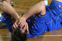 Drasko Mrvaljevic at handball match RK Cimos Koper vs RK Gold Club in final of Slovenian Handball Cup, on March 30, 2008 in Celje, Slovenia. Cimos Koper won the game 30:25 and became the Winner of Slovenian Cup. (Photo by Vid Ponikvar / Sportal Images).