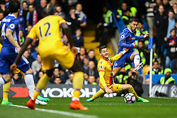 Eden Hazard of Chelsea crosses the ball into the penalty area prior to Cesc Fabregas of Chelsea goal - Mandatory by-line: Jason Brown/JMP - 01/04/2017 - FOOTBALL - Stamford Bridge - London, England - Chelsea v Crystal Palace - Premier League