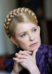 Yuliya Tymoshenko, Ukraine's prime minister, listens during the European People's Party (EPP) meeting, Thursday, March 19, 2009, in Brussels, Belgium. (Photo © Jock Fistick)