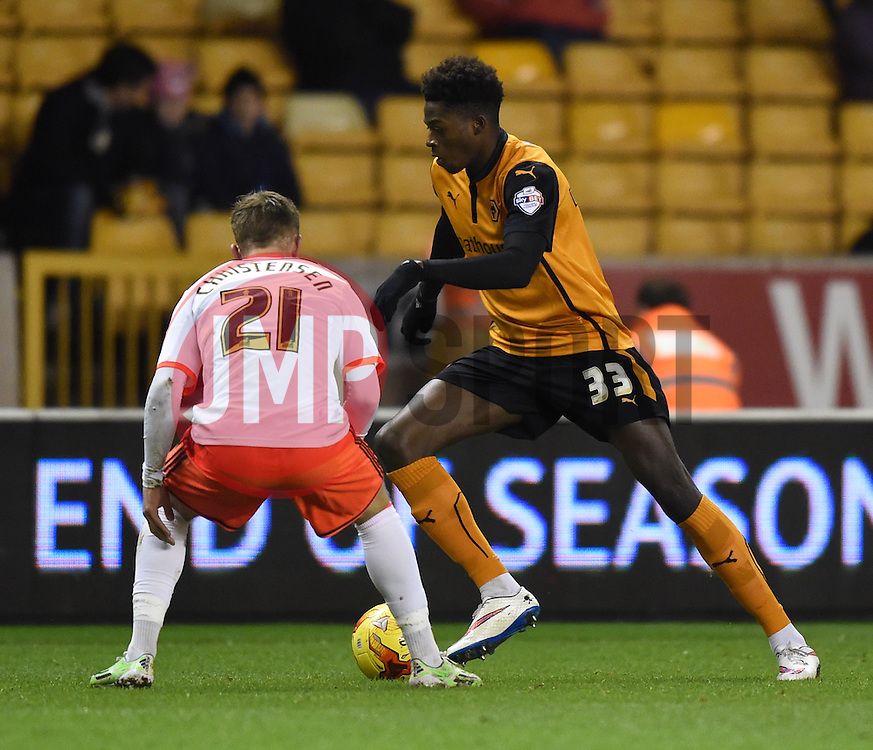 Wolverhampton Wanderers Dominic Iorfa in action during the Sky Bet Championship match between Wolverhampton Wanderers and Fulham at Molineux Stadium on 24 February 2015 in Wolverhampton, England - Photo mandatory by-line: Paul Knight/JMP - Mobile: 07966 386802 - 24/02/2015 - SPORT - Football - Wolverhampton - Molineux Stadium - Wolverhampton Wanderers v Fulham - Sky Bet Championship