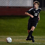 Brockway, PA - November 7:  During the first match of the Pennsylvania Interscholastic Athletic Association Class 2-A Boys Soccer Championships between Quaker Valley and St. Mary's High School at Frank Varischetti Football Field on November 7, 2017 in Brockway, PA.  The Quakers went on to win 8-0. (Photo by Shelley Lipton)