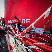 Leg Zero, Prologue, day 2 on-board MAPFRE. Photo by Jen Edney/MAPFRE/Volvo Ocean Race. <br />