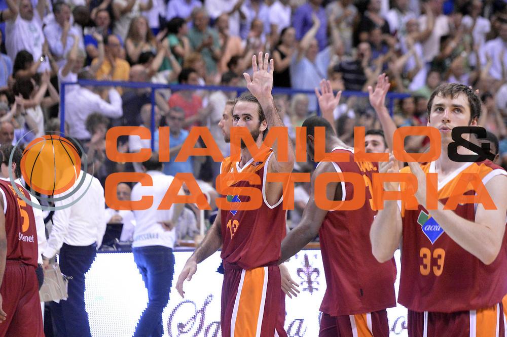 DESCRIZIONE : Roma Lega A 2012-2013 Montepaschi Siena Acea Roma playoff finale gara 4<br /> GIOCATORE : Team<br /> CATEGORIA : Delusione<br /> SQUADRA : Acea Roma<br /> EVENTO : Campionato Lega A 2012-2013 playoff finale gara 4<br /> GARA : Montepaschi Siena Acea Roma<br /> DATA : 17/06/2013<br /> SPORT : Pallacanestro <br /> AUTORE : Agenzia Ciamillo-Castoria/GiulioCiamillo<br /> Galleria : Lega Basket A 2012-2013  <br /> Fotonotizia : Roma Lega A 2012-2013 Montepaschi Siena Acea Roma playoff finale gara 4<br /> Predefinita :