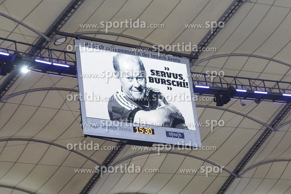 22.02.2014, Imtech Arena, Hamburg, GER, 1. FBL, Hamburger SV vs Borussia Dortmund, 22. Runde, im Bild Trauer um Hermann Rieger // during the German Bundesliga 22th round match between Hamburger SV and Borussia Dortmund at the Imtech Arena in Hamburg, Germany on 2014/02/23. EXPA Pictures &copy; 2014, PhotoCredit: EXPA/ Eibner-Pressefoto/ Latendorf<br /> <br /> *****ATTENTION - OUT of GER*****