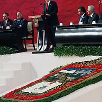TOLUCA, México.- Ernesto Nemer Álvarez, presidente de la Junta de coordinación politica de la LVII legislatura local, durante el 187 aniversario de la promulgación del Estado de México. Agencia MVT / José Hernández. (DIGITAL)