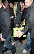 31.MAY.2011. LONDON<br /> <br /> AVRIL LAVIGNE LEAVING NOBU RESTAURANT, BERKLEY STREET WITH GREEN HIGHLIGHTS IN HER HAIR THAT MATCH HER HANDBAG.<br /> <br /> BYLINE: EDBIMAGEARCHIVE.COM<br /> <br /> *THIS IMAGE IS STRICTLY FOR UK NEWSPAPERS AND MAGAZINES ONLY*<br /> *FOR WORLD WIDE SALES AND WEB USE PLEASE CONTACT EDBIMAGEARCHIVE - 0208 954 5968*