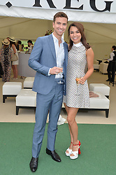 SAMANTHA BARKS and RICHARD FLESSHMAN at the St.Regis International Polo Cup at Cowdray Park, Midhurst, West Sussex on 17th May 2014.