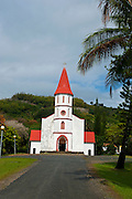 Little church on the east coast of Grande Terre, New Caledonia, Melanesia, South Pacific