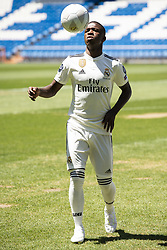 July 20, 2018 - Madrid, Spain - Vinicius Jr. during his presentation as new Real Madrid player at Santiago Bernabéu Stadium in Madrid, Spain. July 20, 2018. (COOLMEDIA/BorjaB.Hojas) (Credit Image: © Coolmedia/NurPhoto via ZUMA Press)