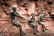 Tug O'War Bronze statue by W. Stanley Proctor.  Sedona, Arizona, USA