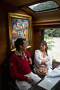 Inca Rail, train ride, Sacred Valley; Cusco Region; Urubamba Province; Machupicchu District; Peru