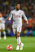 Liverpool midfielder Georginio Wijnaldum (5) during the Champions League semi-final leg 1 of 2 match between Barcelona and Liverpool at Camp Nou, Barcelona, Spain on 1 May 2019.