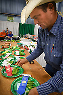 Oklahoma State Fair Judging day for 4-H entries in arts & Crafts, construction, media, photography, baking, sewing, environment, stewardship, gardening, and many others.