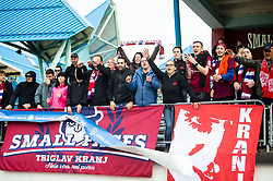 Fans of Triglav celebrate after the football match between NK Triglav Kranj and NK Domzale in 35th Round of Prva liga Telekom Slovenije 2018/19, on May 22nd, 2019, in Sports park Kranj, Slovenia. Photo by Vid Ponikvar / Sportida