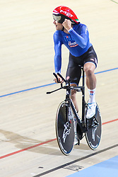 March 2, 2018 - Apeldoorn, Netherlands - Italian Filippo Ganna competes in the men's individual pursuit race final during the UCI Track Cycling World Championships in Apeldoorn on March 2, 2018. (Credit Image: © Foto Olimpik/NurPhoto via ZUMA Press)