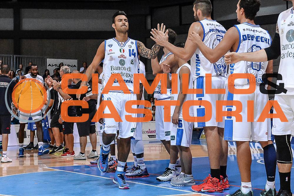 DESCRIZIONE : 3&deg; Torneo Internazionale Geovillage Olbia Dinamo Banco di Sardegna Sassari - Darussafaka Dogus Istanbul<br /> GIOCATORE : Brian Sacchetti<br /> CATEGORIA : Before Pregame<br /> SQUADRA : Dinamo Banco di Sardegna Sassari<br /> EVENTO : 3&deg; Torneo Internazionale Geovillage Olbia<br /> GARA : 3&deg; Torneo Internazionale Geovillage Olbia Dinamo Banco di Sardegna Sassari - Darussafaka Dogus Istanbul<br /> DATA : 05/09/2015<br /> SPORT : Pallacanestro <br /> AUTORE : Agenzia Ciamillo-Castoria/L.Canu